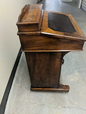 Antique Davenport Walnut Writing Desk, 19th century
