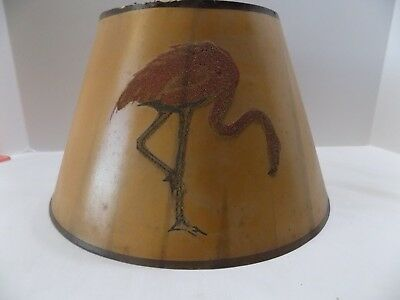Parchment paper lamp shade vintage 3333 picclick antique parchment lamp shade for aladdin other table lamps tan with flamingo aloadofball Choice Image