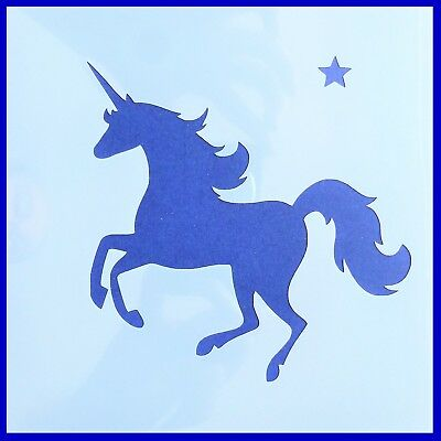 Flexible Stencil *RUNNING UNICORN* Small or Medium Card Making Crafts Design # 2