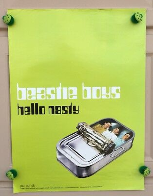 "Beastie Boys ""Hello Nasty"" Green 18x24 Promotional Poster"