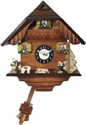 Engstler 0226qp Miniature Black Forest Clock with Battery-Powered Quartzwerk and