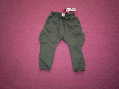 "Girls ""Next"" Smart Green Cotton Cargo Trousers for Age 12-18 months BNWT"