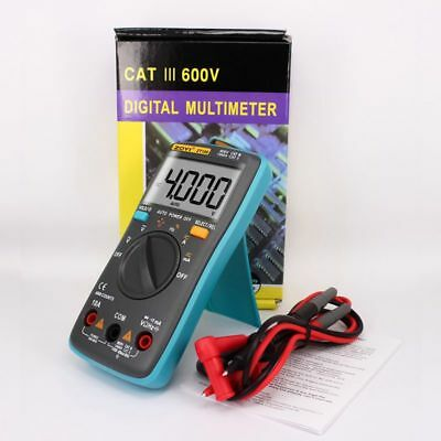 Digital LCD Multimeter Backlight 4000 Counts Auto Range Ammeter Meter Tester UK
