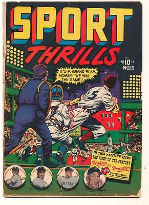 Sport Thrills #15 in Good + condition. FREE bag/board
