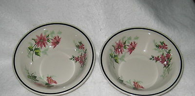 """Syracuse China Flowers of the Southland LOT Bowls Nice 4 Qty Vtg 6"""" Cereal"""