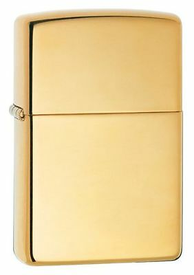 "Zippo ""Armor"" High Polish Brass Finish Lighter, Full Size, 169"