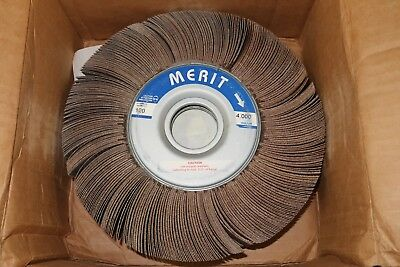 "1 new Merit Grind-O-Flex 10"" x 1"" x 1-3/4"" Al, 120 ARB Grit, Sanding Flap Wheel"
