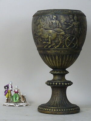 SCULPTURE VASE BRONZE 1800 XIX EMPIRE ROME soldiers bas relief LIBERTY s GEMITO