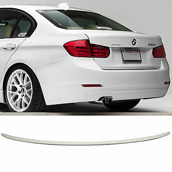 BMW PAINTED White 300 BMW 3 SERIES F30 ABS 12-18 REAR BOOT LIP SPOILER M5 STYLE