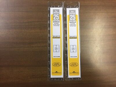 2 Packages Prinz-Scott Stamp Mounts Size 25/215 in BLACK Background