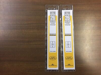 2 Packages Prinz-Scott Stamp Mounts Size 26/215 in BLACK Background