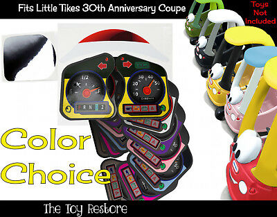 Replacement Stickers Fits Little Tikes cozy coupe 30th Anniverary car PartialSet
