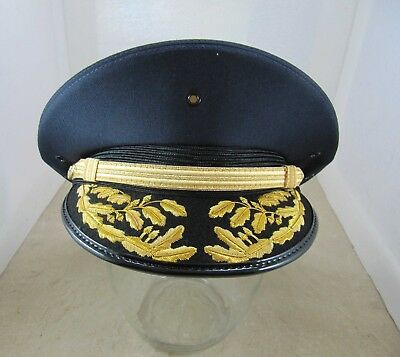 New Lancaster Double Round Hat - Navy Blue - Police Fire Driver Costume