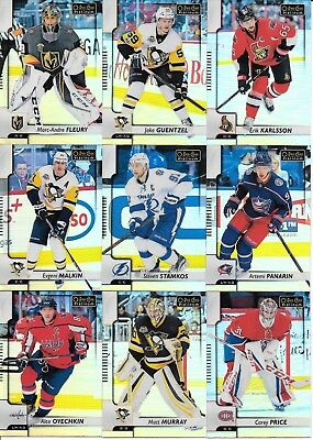 U PICK EM LOT 2017-18 17-18 O-Pee-Chee OPC Platinum Rainbow Base Legend set card