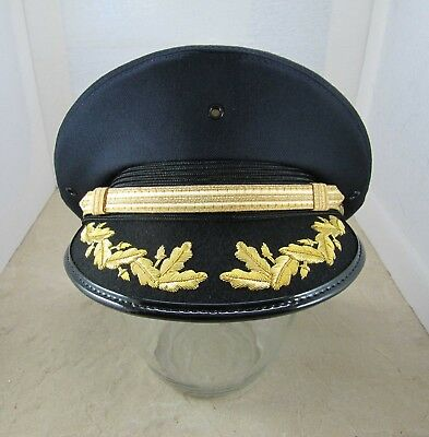New Lancaster Single Round Hat - Navy Blue - Police Fire Driver Costume