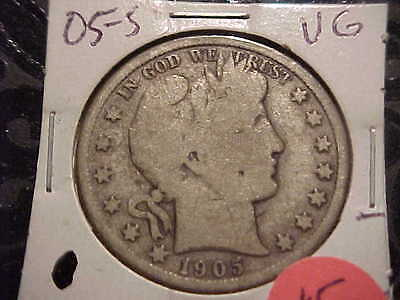 1905-S  VG  Barber Half Dollar   L,Y and part of I,T