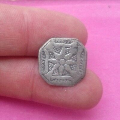 RARE FANTASTIC 17TH CENTURY SILVER BUTTON  HANDMADE - STAR DECORATION   16mm