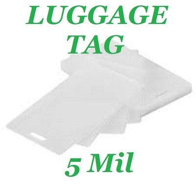 25 Luggage Tag 5 Mil Laminating Pouches Laminator Sheets With Slot 2.5 x 4.25