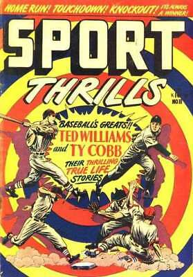 Sport Thrills #11 in Very Good + condition. FREE bag/board