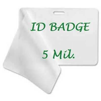 25 ID Badge 5 Mil Laminating Pouches Laminator Sheets With Slot 2.56 x 3.75