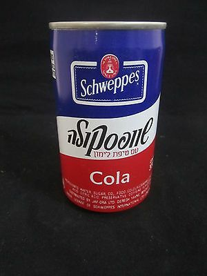 Schweppes  cola lemon   : a 330 ml  empty  can, israel , late 80's.