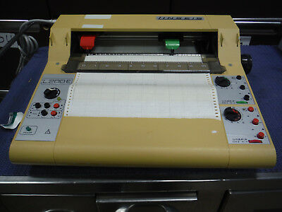 Linseis L200E  2-Channel 250mm Lab Flat Bed Graph Chart Recorder, WORKING