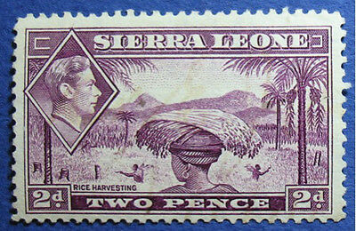 1938 SIERRA LEONE 2d SCOTT# 176 S.G.# 191 UNUSED CS07996