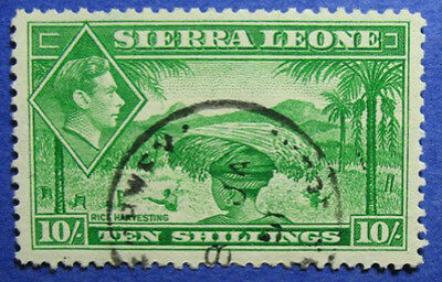 1938 Sierra Leone 10S Scott# 184 Sg# 199 Used Cs06230