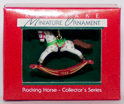 1988 ROCKING HORSE #1 NEW Hallmark Miniature Ornament In BOX