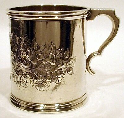A large coin silver mug, Gale & Hayden, Charleston, SC, dated 1849.