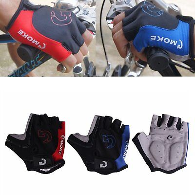 1Pair Breathable Half Finger Gloves Cycling Bike Bicycle Sports GEL Pad S M L XL