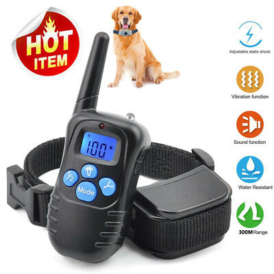 Pettrainer Dog Training Shock Collar LCD Electric Remote Waterproof Rechargeable