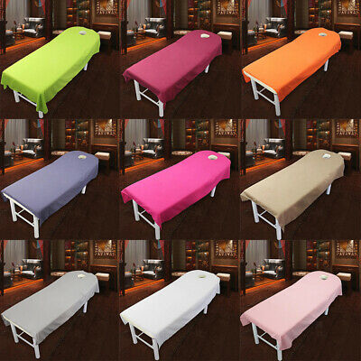 10Pcs Massage Bed Cover Table Plinth Treatment Couches Sheet With Face Hole