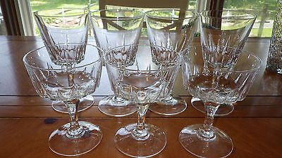 7 Crystal Water Glasses Champagne Glasses St. Germain Cristal D'Arques-Durand