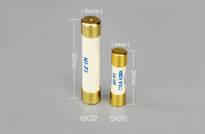 1x Furutech Fuse Gold Plated fuses 20mm x 5mm 1A,2A,3.15A,4A 6x32mm Cryogenic