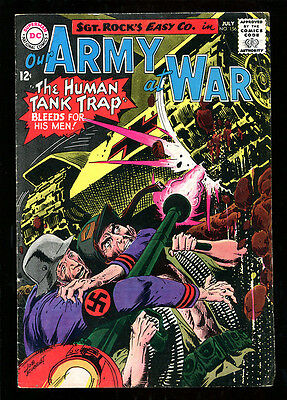 Our Army At War 156 5.5 Fine- 1965 Dc Joe Kubert Sgt Rock Easy Company