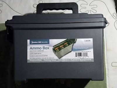 1 One ea Ammo Can Dry Storage Case Polypropylene Plastic Box Ammunition 30 cal