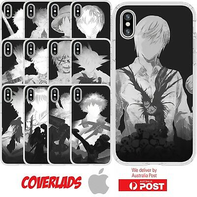 Silicone Cover Case Anime Manga Black White Character Cool - Customlads