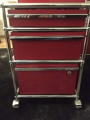 Rollcontainer Rot usm haller rollcontainer rot top eur 550 00 picclick de
