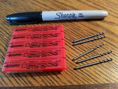 Accupro Drill Bits,  2.20  mm, Lot of 5, New