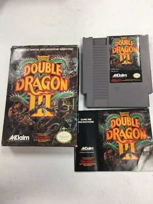 Double Dragon III: The Sacred Stones (NES) VGC *TESTED* BOX CART & BOOK L@@K