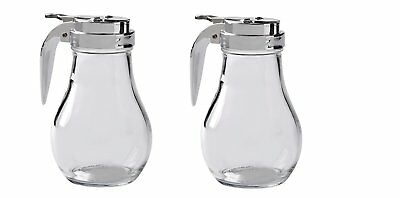 Thunder Group GLTWSY014 Syrup Dispenser with Cast Zinc Top, 14-Ounce, Pack of 2