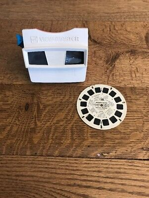 Vintage Red White Blue GAF Viewmaster w/1 REEL- Good Working Condion- Ships Free