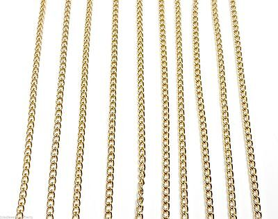 "10PCS Gold Aluminium chains Lengths 16"" to 50"" Hypoallergenic handmade"