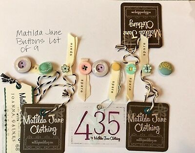 MATILDA JANE Lot of 9 SPARE BUTTONS
