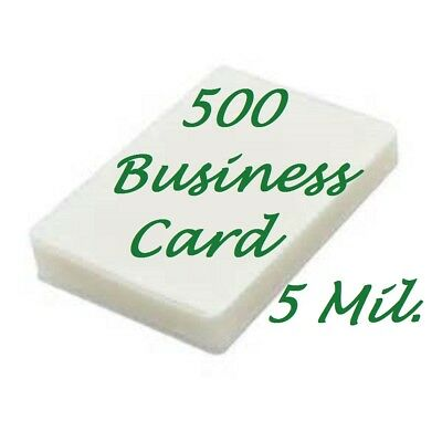 500 Business Card 5 Mil Laminating Pouches Laminator Sheets 2-1/4 x 3-3/4