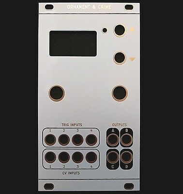ORNAMENT AND CRIME Faceplate for DIY Eurorack Modules