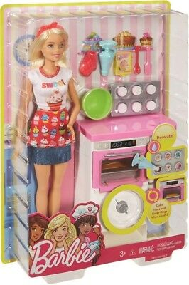 NEW Barbie Bakery Chef Doll And Playset from Mr Toys