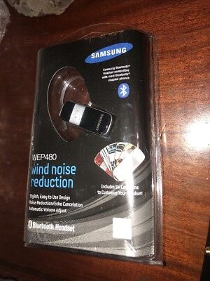 Samsung Wep480 Bluetooth Headset Black with dual microphone noise & echo cancel