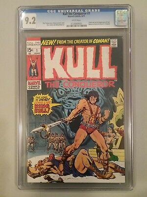 Kull the conqueror  #1   cgc. 9.2.  White pages.    June 1971
